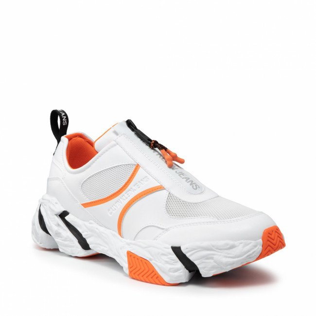 Sneakersy CALVIN KLEIN JEANS - Chunky Sole Sneaker Zip YM0YM00087 Bright White YAF