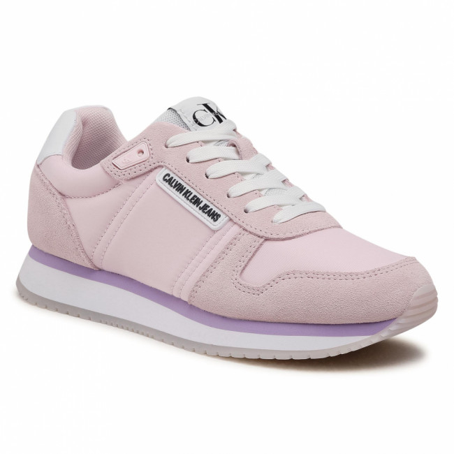 Sneakersy CALVIN KLEIN JEANS - Runner Sneaker Laceup Pl YW0YW00071 Pearly Pink