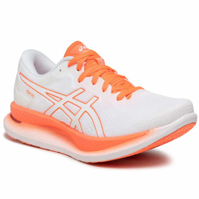 Topánky ASICS - GlideRide Tokyo 1012A943 White/Sunrise Red 100