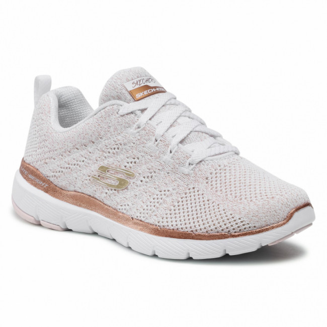 Topánky SKECHERS - Flex Appeal 3.0 13070/WTRG White Rose Gold