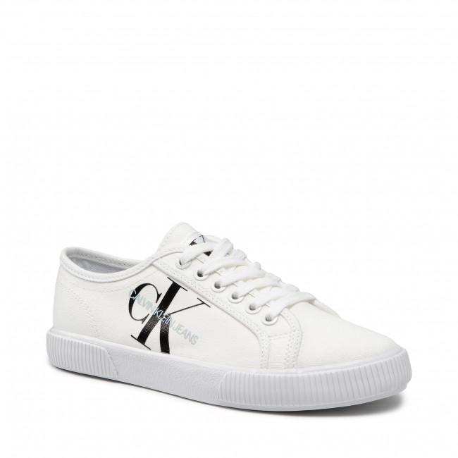 Tenisky CALVIN KLEIN JEANS - Vulcanized Sneaker Laceup Co YW0YW00402 YAF Bright White