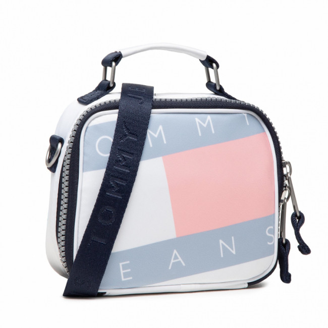 Kabelka TOMMY JEANS - Tjw Heritage Flag Crossover AW0AW10236 WHT