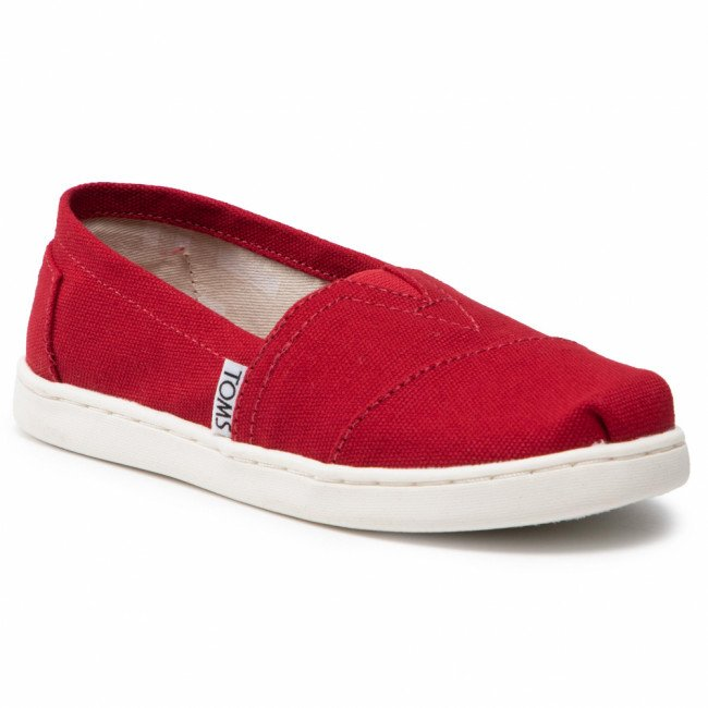 Poltopánky TOMS - Classic 10010534  Red Canvas