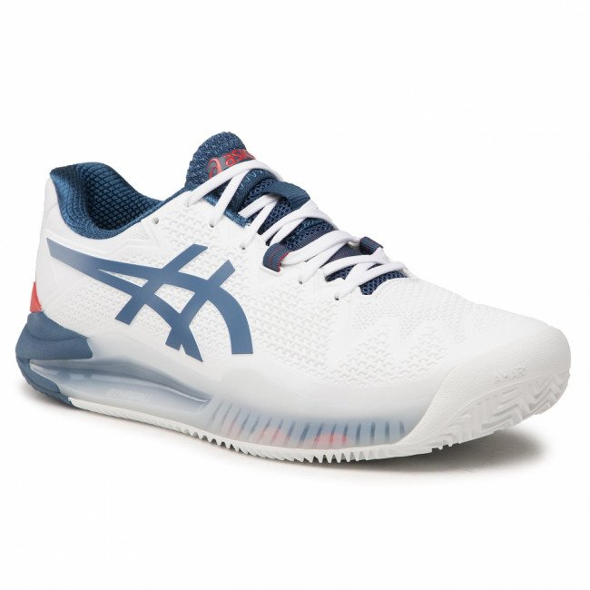 Topánky ASICS - Gel-Resolution 8 Clay 1041A076 White/Mako Blue 103