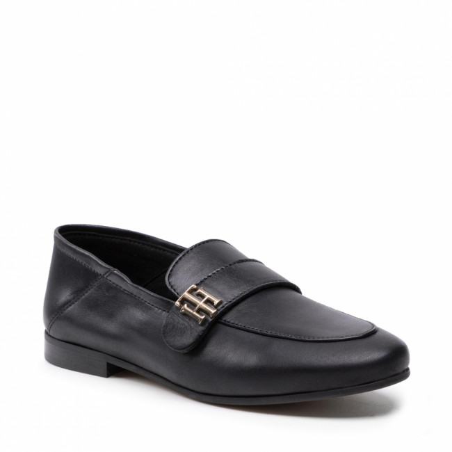 TOMMY HILFIGER - Essential Leather Loafer FW0FW05786 Black BDS