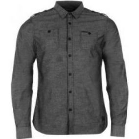 Firetrap - Blackseal Chambray Long Sleeve Shirt