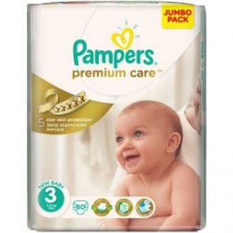 Pampers Premium Care 3 midi 4-9kg 80ks