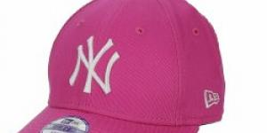 NEW ERA-940 MLB LEAGUE BASIC NY YANKEES PINK/WHITE
