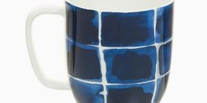 Cup Porcelán Squares Blue - Kitchens Deco Kolekcia