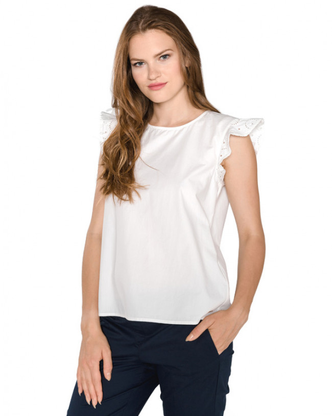 Tom Tailor Denim Top Biela