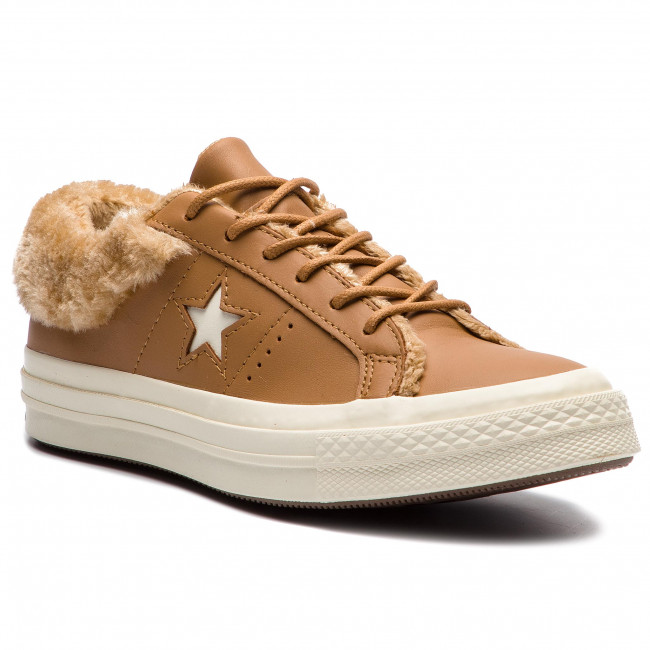 Tenisky CONVERSE - One Star Ox 162603C Burnt Caramel/Burnt Caramel