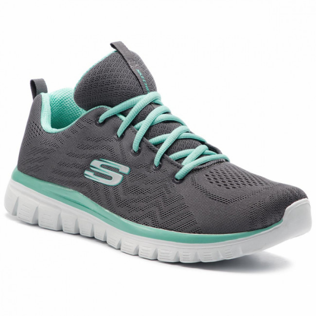 Topánky SKECHERS - Get Connected 12615/CCGR Charcoal/Green