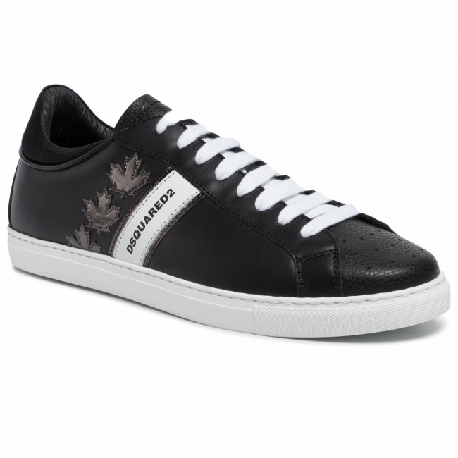 Sneakersy DSQUARED2 - Lace-Up Low Top Sneakers SNM0035 06502259 M1082 Nero/Anthracite