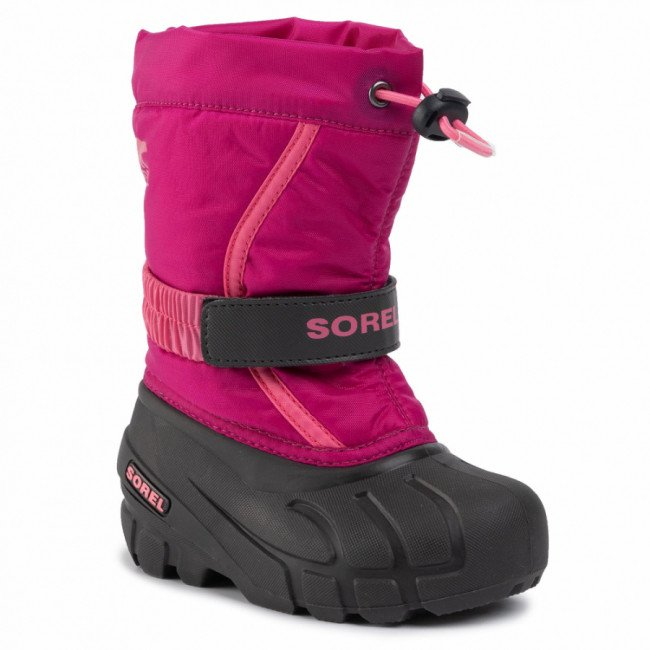Snehule SOREL - Childrens Flurry NC1965 Deep Blush/Tropic Pink 684