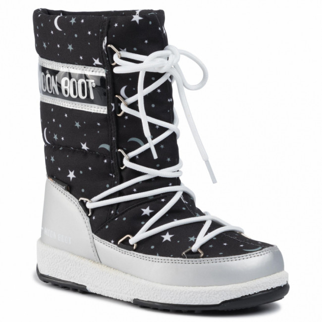 Snehule MOON BOOT - Jr Girl Q.Universe Wp 34052100001 M Silver/Black