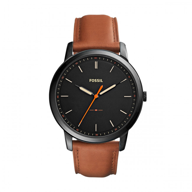 Hodinky FOSSIL - The Minimalist 3H FS5305 Brown/Black