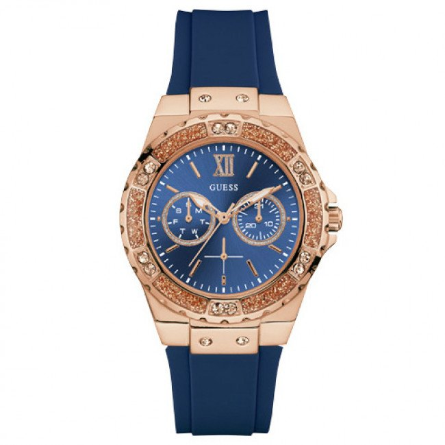 Hodinky GUESS - Limelight W1053L1 BLUE/ROSE GOLD TONE