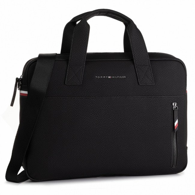 Taška na Laptop TOMMY HILFIGER - Essential Computer Bag AM0AM05226 BDS