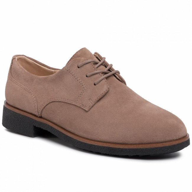 Oxfordy CLARKS - Griffin Lane 261447394  Taupe Suede