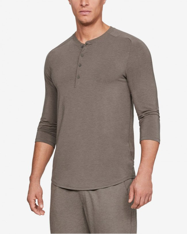 Under Armour Athlete Recovery Sleepwear™ Ultra Comfort Tričko na spanie Hnedá