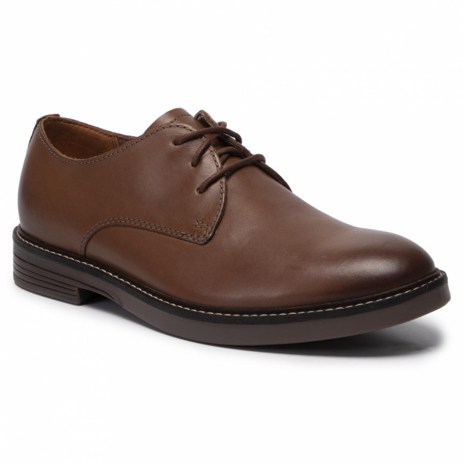 Poltopánky CLARKS - Pulson Plain 261447967  Tan Leather