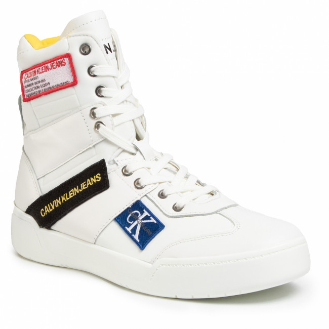 Sneakersy CALVIN KLEIN JEANS - Norton Nappa Leather S0580  Bright White