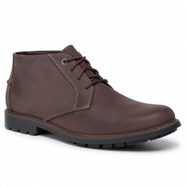 Outdoorová obuv CLARKS - Curington Over 261453657  Dark Brown Leather