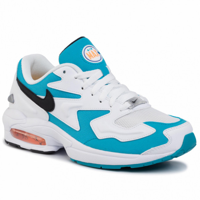 Topánky NIKE - Air Max2 Light AO1741 100 White/Black/Blue Lagoon