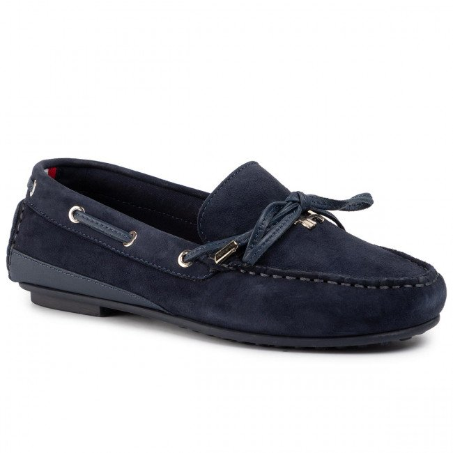 Mokasíny TOMMY HILFIGER - Elevated Th Hardware Moccassin FW0FW04588 Sport Navy DB9