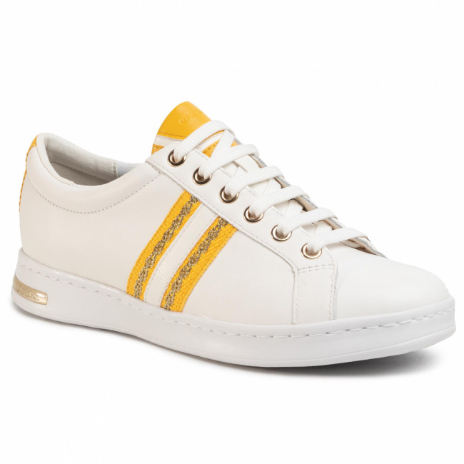 Sneakersy GEOX - D Jaysen A D921BA 08554 C1372 White/Lt Yellow