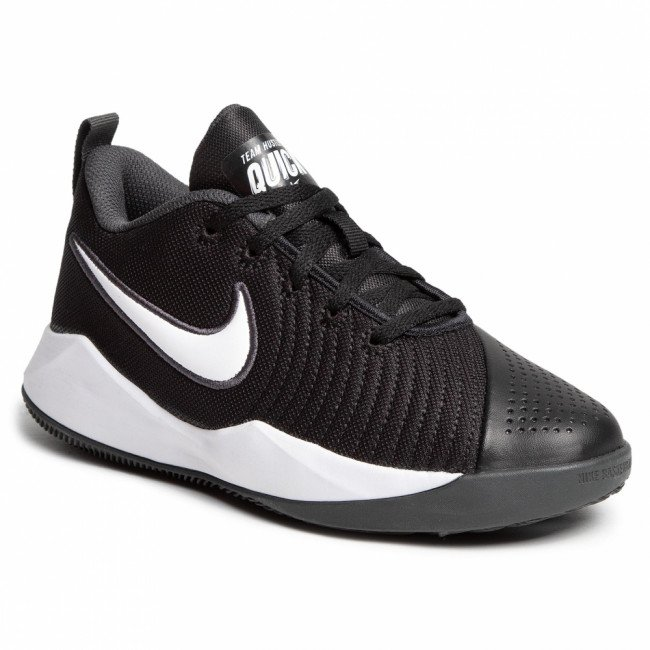 Topánky NIKE - Team Hustle Quick 2 (Gs) AT5298 002 Black/White/Anthracite/Volt