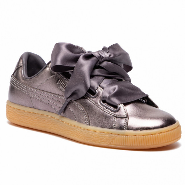 Sneakersy PUMA - Basket Heart Luxe Wn's 366730 01 Quiet Shade/Quiet Shade