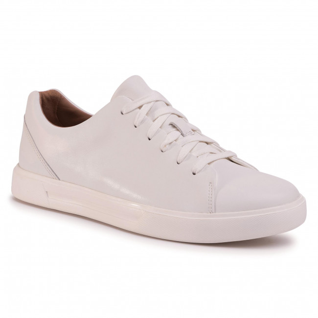 Sneakersy CLARKS - Un Costa Lace 261401647  White Leather