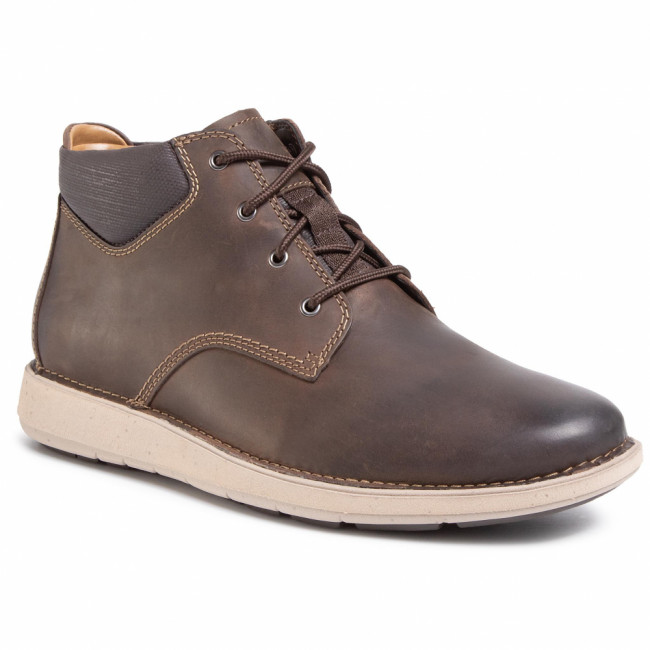 Outdoorová obuv CLARKS - Un Larvik Top 261446047 Brown Leather
