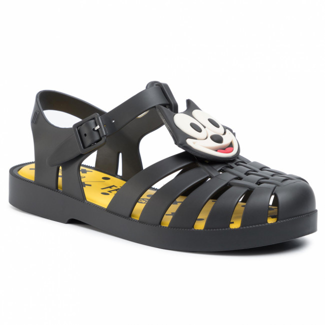 Sandále MELISSA - Mini Melissa Possession + Gato Feli 32617  Black/Yellow/White 53618