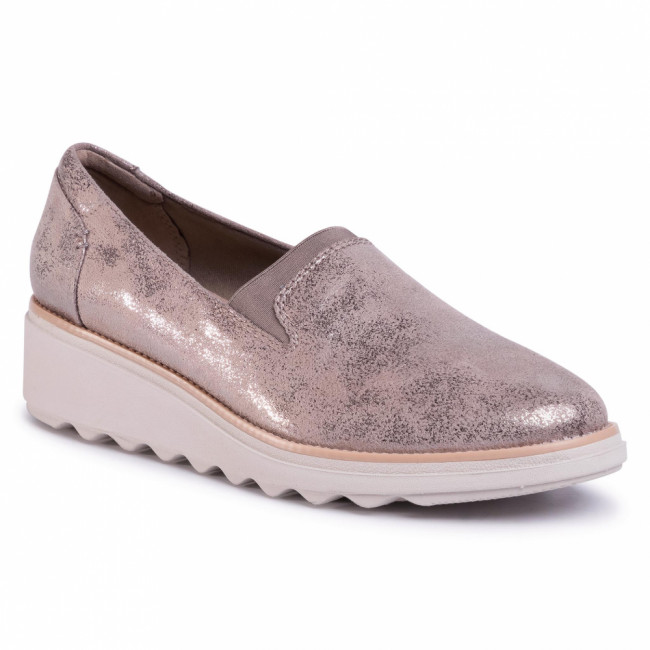 Poltopánky CLARKS - Sharon Dolly 261474804 Pewter