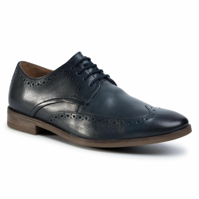 Poltopánky CLARKS - Stanford Limit 261498407 Navy Leather
