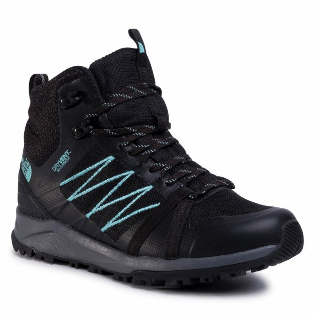 Trekingová obuv THE NORTH FACE - Litewave Fastpack II Mid Wp NF0A47HFU3B Tnf Black/WAqua Splash