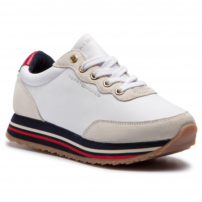 Sneakersy TOMMY HILFIGER - Tommy Retro Runner FW0FW03690  White 100
