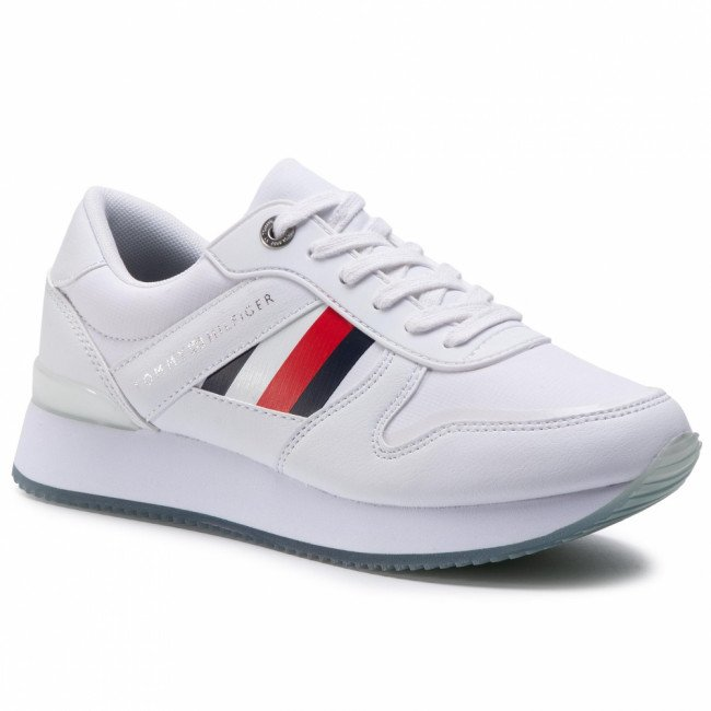 Sneakersy TOMMY HILFIGER - Corporate Active City Sneaker FW0FW04685 White YBS