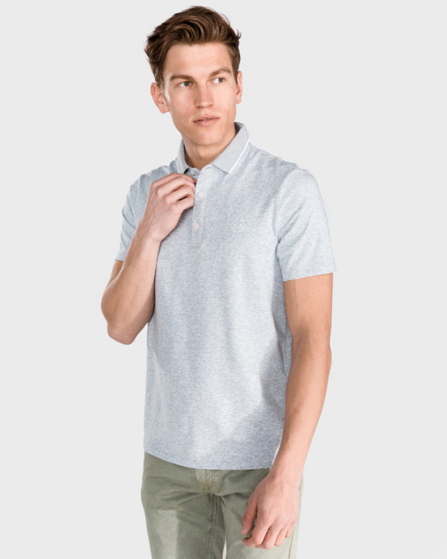 Armani Exchange Polo tričko Šedá