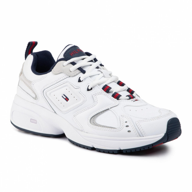 Sneakersy TOMMY JEANS - Heritage Sneaker EM0EM00373 White YBS