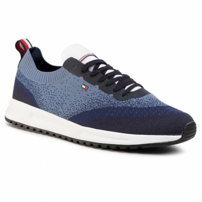 Sneakersy TOMMY HILFIGER - Modern Knit Runner FM0FM02663 White YBS