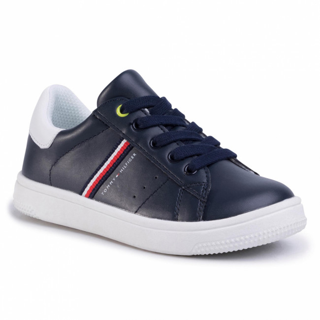 Sneakersy TOMMY HILFIGER - Low Cut Lace-Up Sneaker T3B4-30709-0621 M Blue/White X007