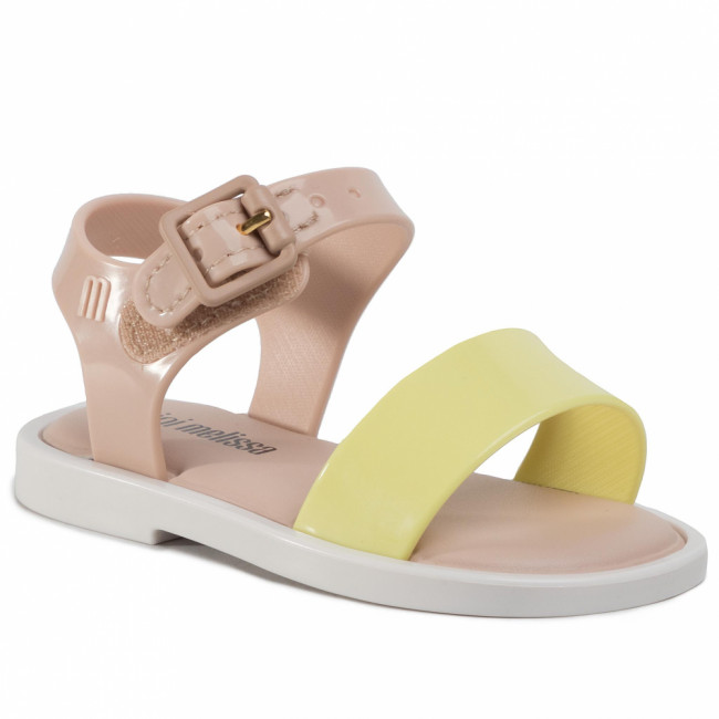 Sandále MELISSA - Mini Melissa Mar Sandal III Bb 32633 Pink/White/Yellow 53612