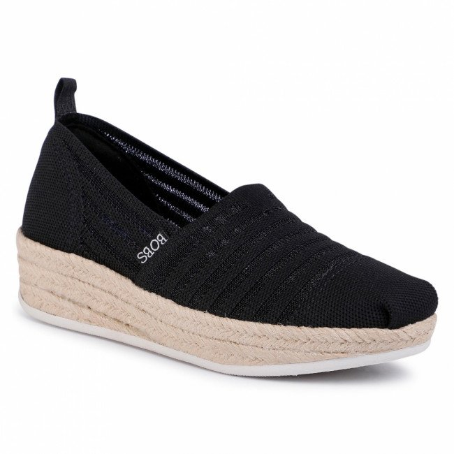 Espadrilky SKECHERS - BOBS Homestretch 113001/BLK Black
