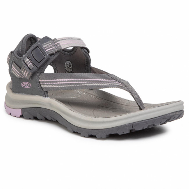 Sandále KEEN - Terradora II Toe Post 1022443 Dark Grey/Dawn Pink