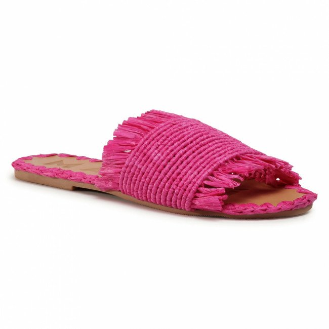 Šľapky MANEBI - Leather Sandals S 1.7 Y0 Fucsia Fringed