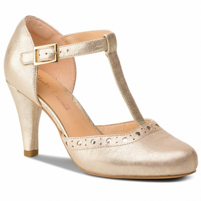Poltopánky CLARKS - Dalia Leah 261393024 Champagne Leather