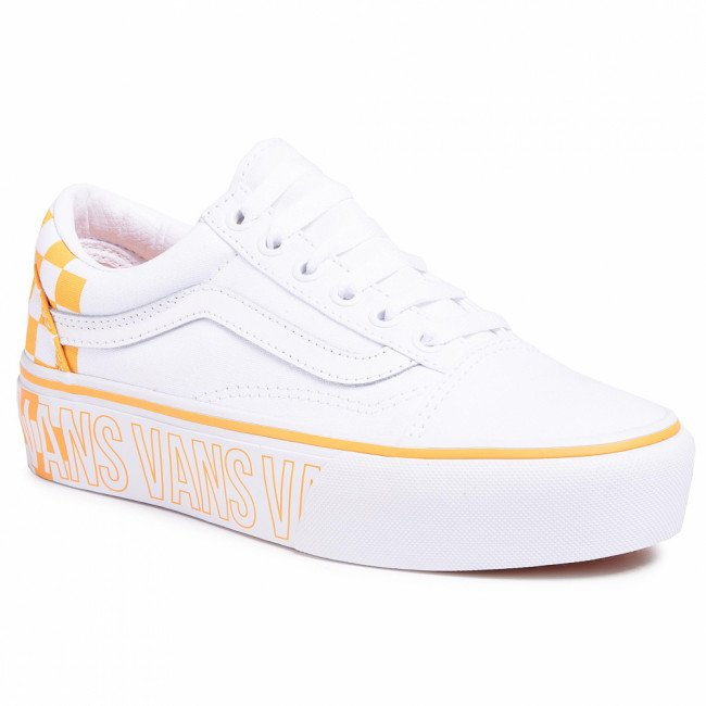 Tenisky VANS - Old Skool Platfor VN0A3B3UAHP1  True White/Multi